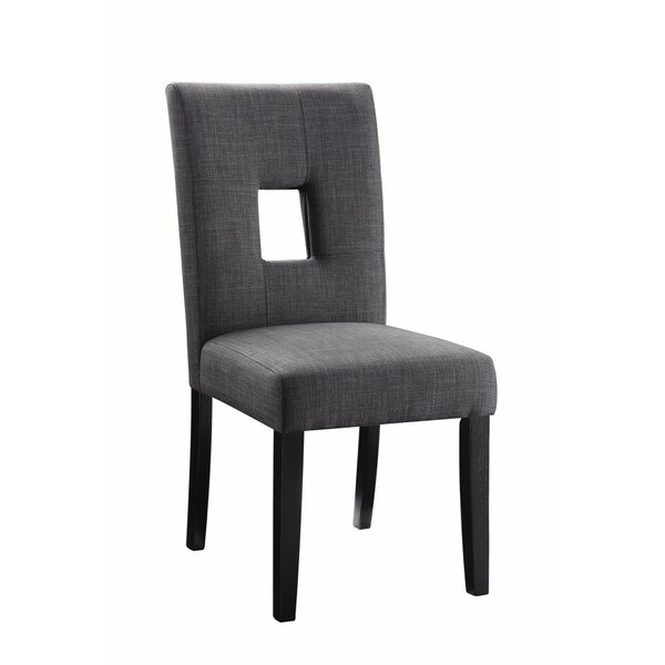 Shamas Wooden Upholstered Dining Chair (Set of 2) by Latitude Run
