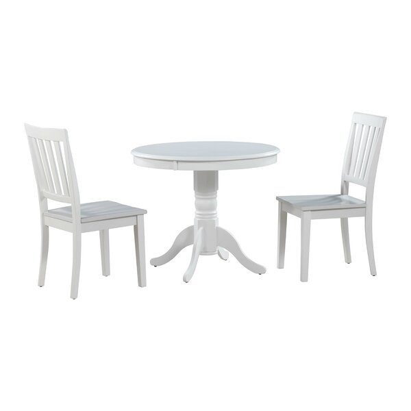 Fresh Cedarville 3 Piece Solid Wood Dining Set By Alcott Hill Best Design