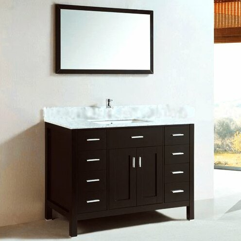 48 Single Bathroom Vanity Set II With Mirror by Kokols