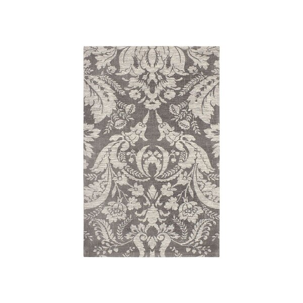 Connemara Jacquard Chenille Gray Area Rug by Laura Ashley Home