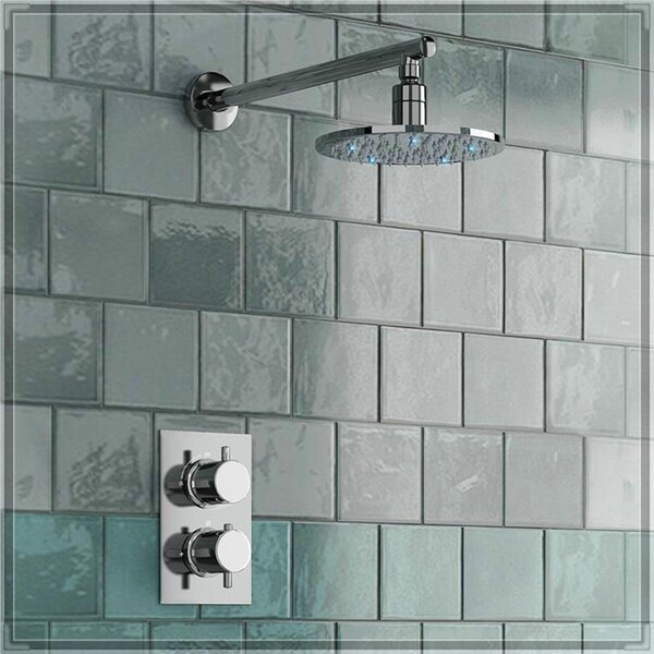 Milan Round Thermostatic Complete Shower System with Rough-in-Valve by FontanaShowers FontanaShowers