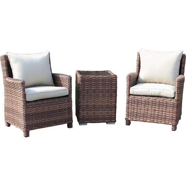 Dutil 3 Piece Conservation Set with Cushions by Brayden Studio