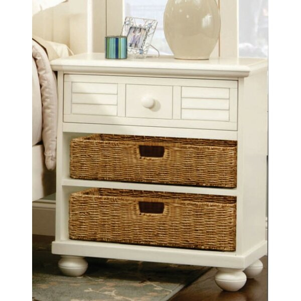 Cowling Ice Cream at the Beach 1 Drawer Nightstand by Rosecliff Heights