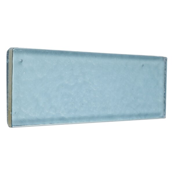 Williamsburg 2 x 8 Glass Block Tile in Sky Blue by Itona Tile