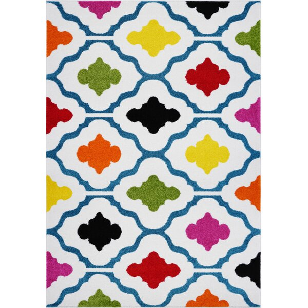 Fritts White Area Rug by Ebern Designs
