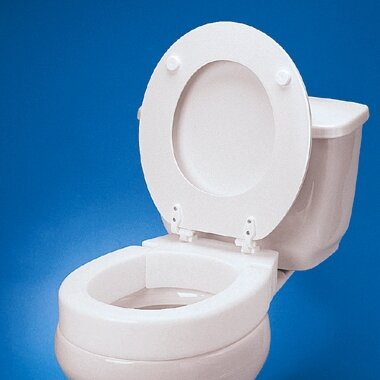 Standard Hinged Raised Toilet Seat Extension by Maddak