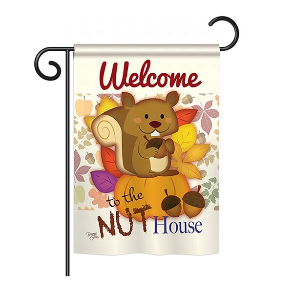 Nut House 2-Sided Vertical Flag by Breeze Decor