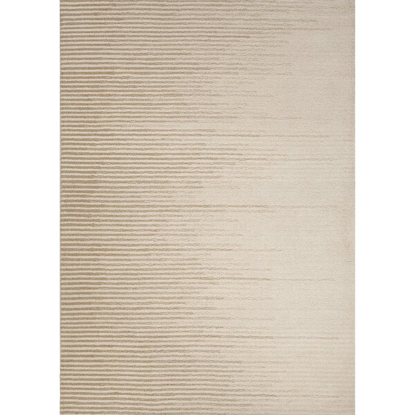 Brittanie Wool Hand Tufted Ivory/White Area Rug by Williston Forge