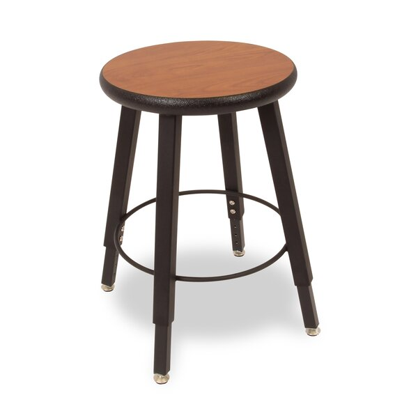 Adjustable Height Round Laminate Armor Edge Seat 4 Leg Stool by WB Manufacturing