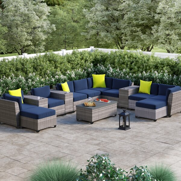 Merlyn 14 Piece Sectional Seating Group with Cushions by Sol 72 Outdoor