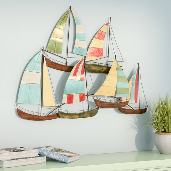 Metal Alloy Boat Wall Decor by Beachcrest Home