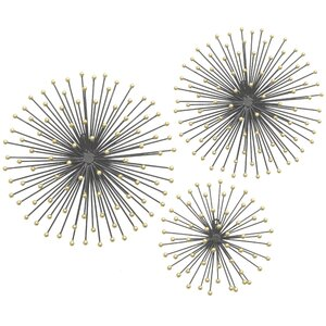 3 Piece Metal Starburst Wall Décor Set