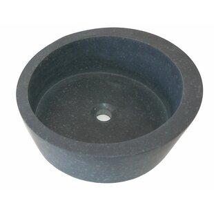 Reviews Arched Ellipse Honed Basalt Circular Vessel Bathroom Sink ByEden Bath