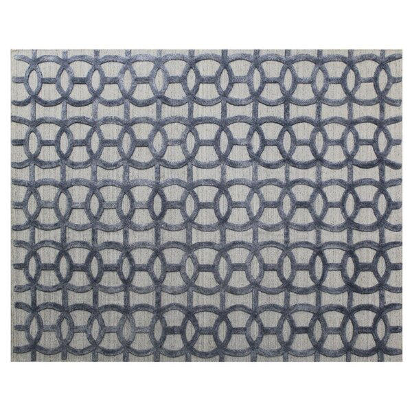 Windsor Hand-Woven Wool Blue/Gray Area Rug. by Exquisite Rugs