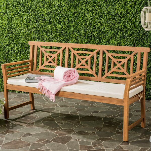 Garrity Wooden Garden bench by Darby Home Co