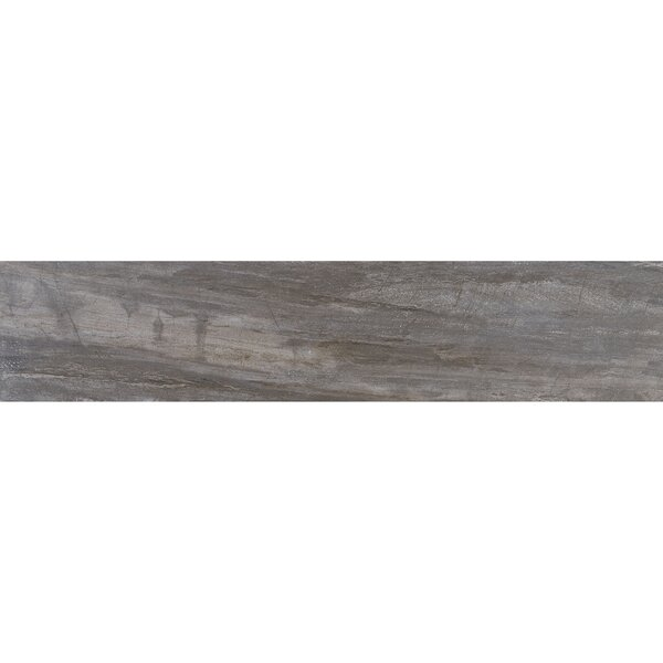 Mansfield 8 x 36 Porcelain Wood Look Tile in Smoky River by Itona Tile