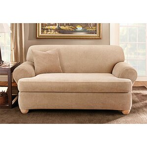 Stretch Stripe T Cushion Sofa Slipcover