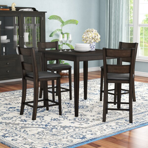 Belknap 5 Piece Counter Height Dining Set by Red Barrel Studio
