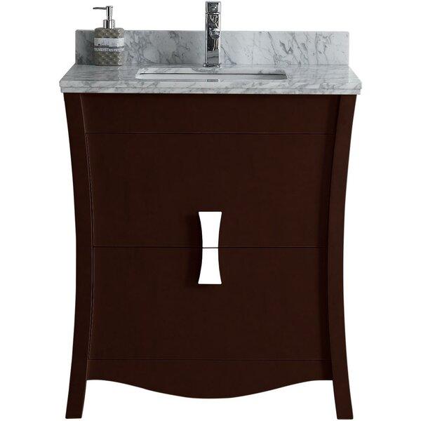 Cataldo Floor Mount 31 Single Bathroom Vanity Set with Single Hole Faucet Mount by Royal Purple Bath Kitchen