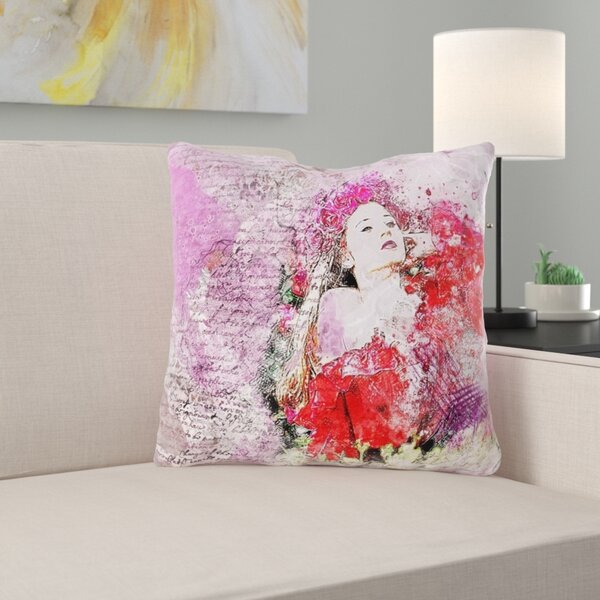 Verduzco Girl Throw Pillow