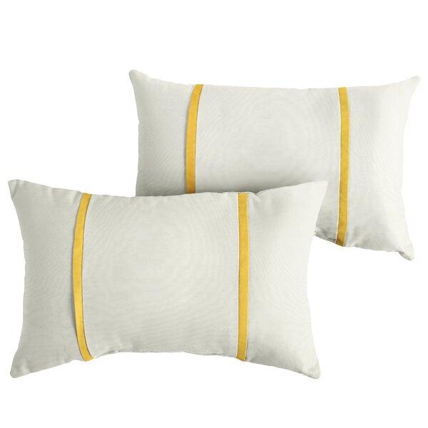 Fleeman Indoor/Outdoor Sunbrella Lumbar Pillow (Set of 2) by Charlton Home