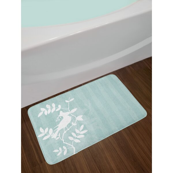 Silhouette Turquoise Nature Bath Rug by East Urban Home