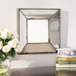 Traditional Square Glass Wall Mirror
