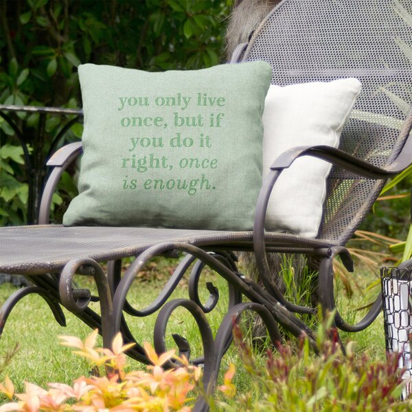 You Only Live Once Indoor/Outdoor Throw Pillow