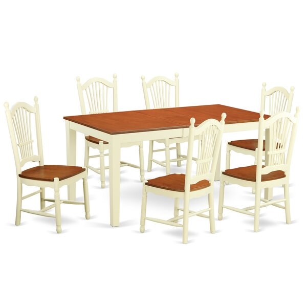 Cleobury 7 Piece Dining Set by August Grove August Grove