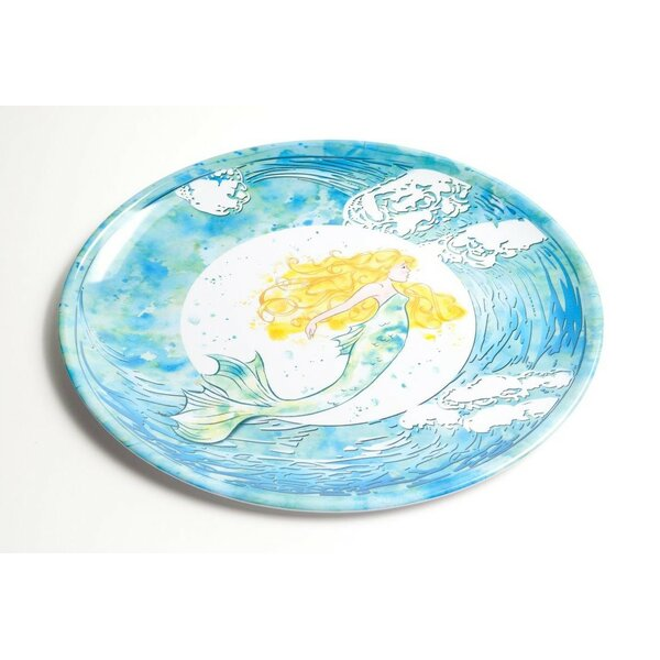Yacht and Home Mermaid Melamine Oval Platter by Galleyware Company