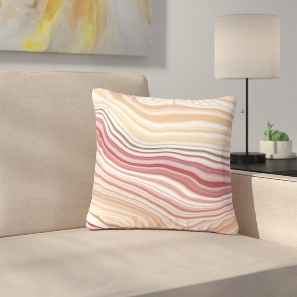 Sunset Brick Outdoor Throw Pillow by East Urban Home