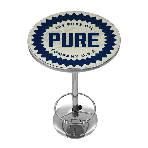 Pure Oil Wordmark Pub Table by Trademark Global