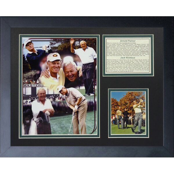 Jack Nicklaus and Arnold Palmer Framed Memorabilia by Legends Never Die