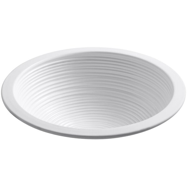 Twirl Ceramic Circular Undermount Bathroom Sink by Kohler