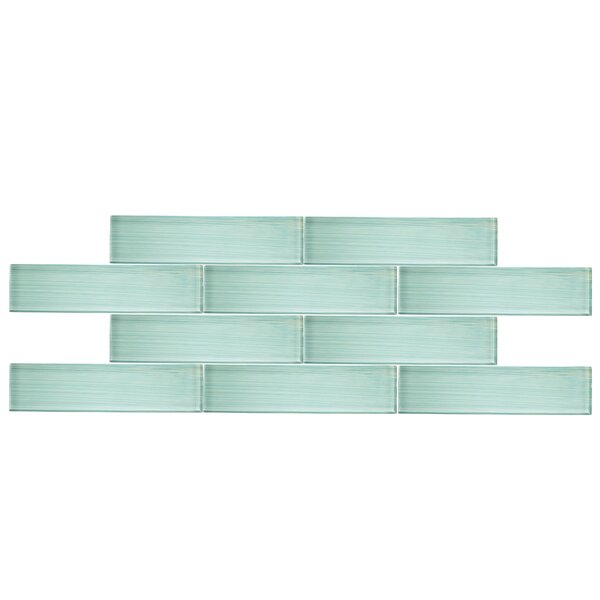 3 x 12 Glass Subway Tile in Seafoam by Vicci Design
