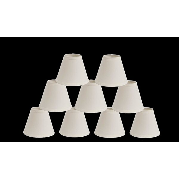 5 H Cotton Empire Lamp Shade ( Clip On ) (Set of 9)