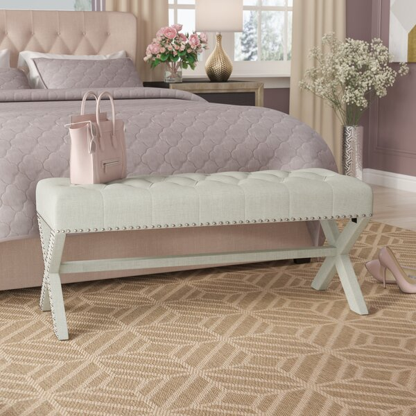 Hafer Tufted Nailhead Upholstered Bench By House Of Hampton