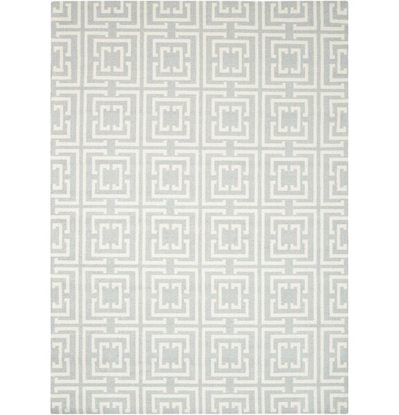 Hudson Light Blue Area Rug by Wrought Studio