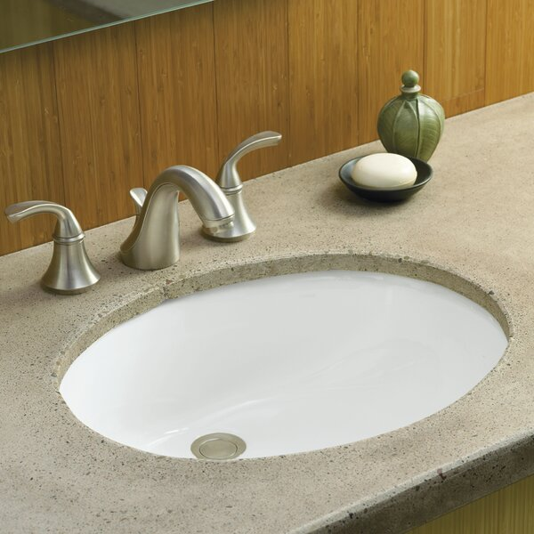 Caxton Ceramic Oval Undermount Bathroom Sink with
