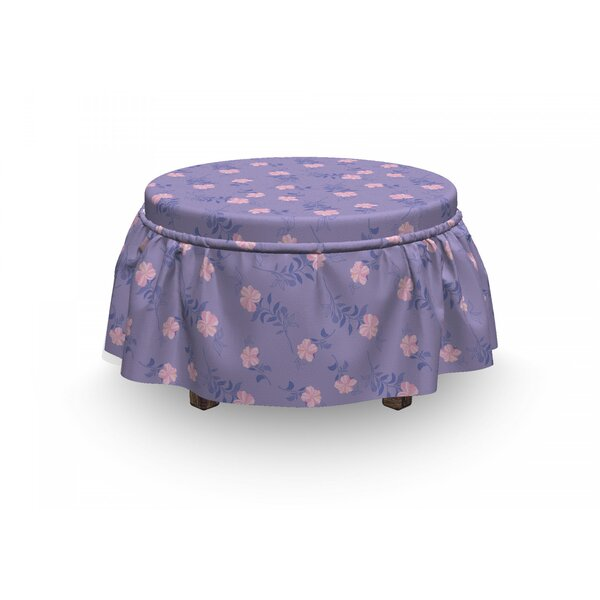 Gramophone Orchids Ottoman Slipcover (Set Of 2) By East Urban Home
