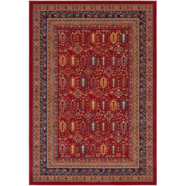 Borgen Red Area Rug by Charlton Home