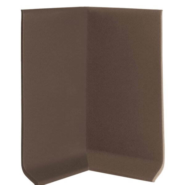 2.25 x 4 x 2.25 Cove Molding in Burnt Umber (Set of 25) by ROPPE