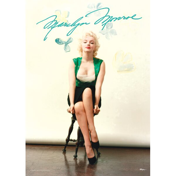 Marilyn Monroe (Signature) Graphic Art by MightyPrint