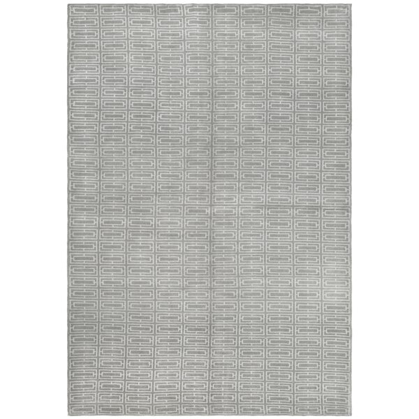 Paramkusham Tibetan Hand Knotted Gray Area Rug by Orren Ellis