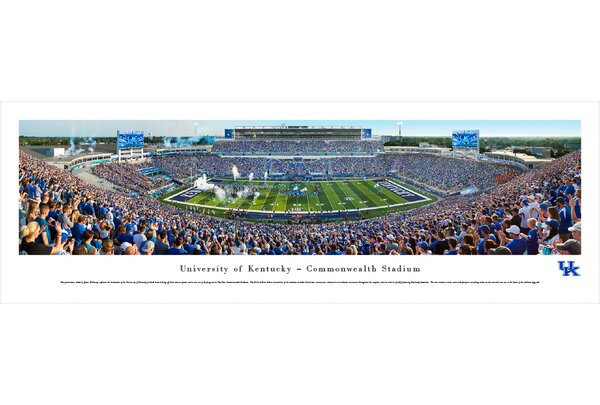NCAA Kentucky, University of - Football by James Blakeway Photographic Print by Blakeway Worldwide Panoramas, Inc