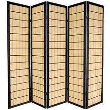 72 x 70 Kimura Shoji 5 Panel Room Divider by Oriental Furniture