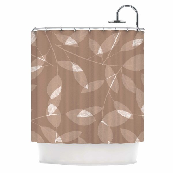 Leaf by Alison Coxon Shower Curtain by East Urban Home