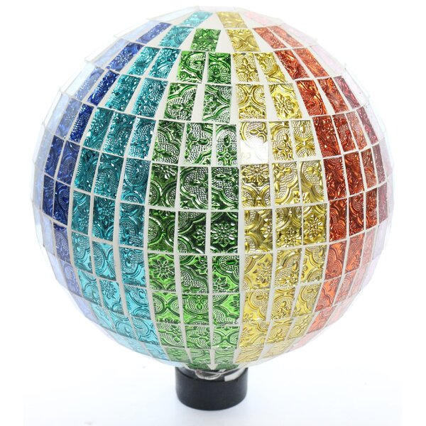 Rainbow Mosaic Gazing Globe by Benzara