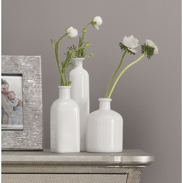 3 Piece White Table Vase Set by Lark Manor