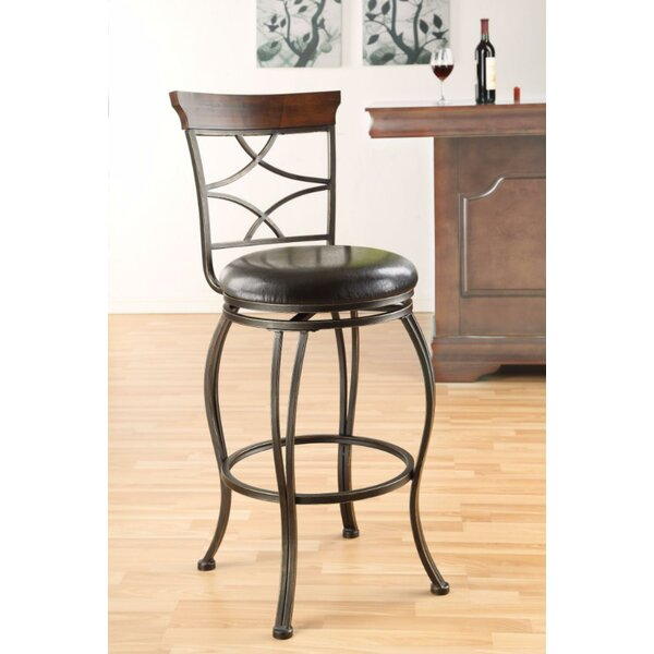 Basalt Swivel Bar Stool (Set of 2) by Fleur De Lis Living Fleur De Lis Living
